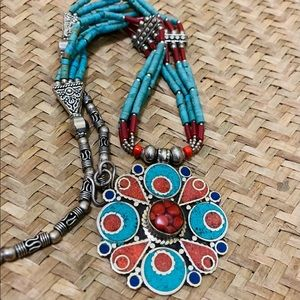 Tibetan hand crafted boho jewellery.